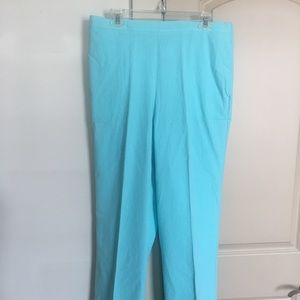 Aqua elastic top pants Alfred Dunner brand so 16
